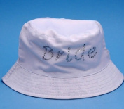 Beverly Clark 21P Bride and Just Married Reversible Beach Hat in White