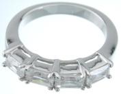 Plutus kkr5070b 925 Sterling Silver Platinum Finish Fashion Band Size 7