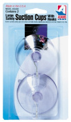 Adams Manuf. 6000-74-3040 3 Count 6.4cm . Clear Suction Cup With Metal in.U in. Hook