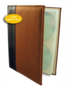 HandStands 02033GP Brown CD-DVD-Blu-Ray Binder plus Insert Pack