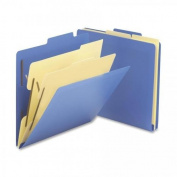 Smead Manufacturing Company Smead Manufacturing Company Classification Folder,2 Partitions,. 4 Cut,Letter,10-BX,Blue