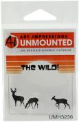 Art Impressions H3236 Art Impressions Wilderness Series Cling Rubber Stamp-Deer