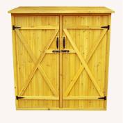 Leisure Season MSS6602 Medium Storage Shed- Brown