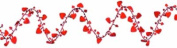 Gleam 'N Flex Heart Garland (red) Party Accessory (1 count) (1/Pkg)
