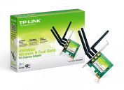 TP-LINK TL-WDN4800 N900 450Mbps Wireless N Dual Band PCI-E Adapter Dual Band support - 2.4GHz or
