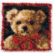 Latch Hook Kit 30cm x 30cm , Girl Bear Pillow