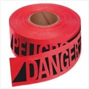 Empire Level 272-76-0604 Reinforced Danger-Peligobarr Tape-Rd W-Blk Prnt