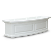 Mayne 4830W Nantucket 3 ft. Window Box - White