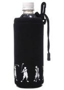 ProActive Sports SNBH001-BLK Neoprene Bottle Holder with Golfer in Black