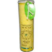 Aloha Bay 0278341 Unscented Chakra Jar Protection Manipura Yellow - 1 Candle