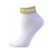 Pzazz Performance Wear 7020 -METGOL-S 7020 Cheer Anklet Sock - Metallic Gold - Small