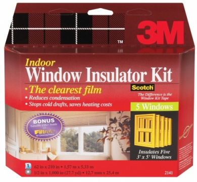 3m Interior Shrink Film Window Kit 2141W-6