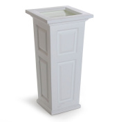 Mayne 4833W Nantucket Tall Planter - White