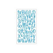 Sticko E5210032 Sticko Alphabet Stickers-Sweetheart Script Small Glitter Blue
