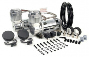 VIAIR 40013 Viair Dual 2 400C 12 Volt Chrome Air Compressor Value Pack
