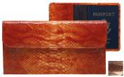 Raika NI 174 BROWN Travel Pouch with Passport - Brown