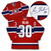 AJ Sports World NILC105000 CHRIS NILAN Montreal Canadiens SIGNED Hockey JERSEY