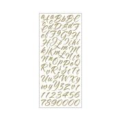 Sticko 474454 Sticko Alphabet Stickers-Brush Stroke Gold