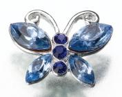 Lillian Rose JL305 Blue Butterfly Pin