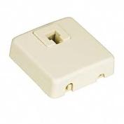 Leviton Ivory Surface Mount Phone Jack 831-C0245-I