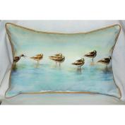 Betsy Drake HJ024 Avocets Art Only Pillow 15x22