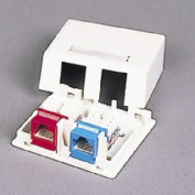 Cables To Go 03833 KEYSTONE JACK SURFACE MOUNT BOX 2-PORT WHITE