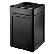 DCI Marketing 732101 143.8l Square Waste Container - Black