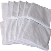 Mabis 554-7073-9812 Hospital Bed Contour Fitted Sheet- White- 1 Dozen