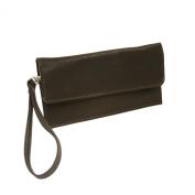 Piel Leather 2855-CHC Travel Wallet - Chocolate