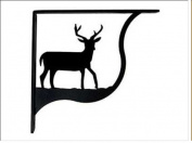 Village Wrought Iron SB-3-L Deer Shelf Brackets - Large