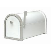 Architectural Mailboxes 5501W Bellevue Mailbox with Powder Coat Platinum Accents - White
