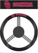 Fremont Die 58553 Poly-Suede Steering Wheel Cover - Oklahoma Sooners