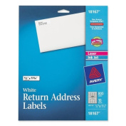 Avery 10 Sheets 18167 White Mailing Labels 18167 - Pack of 5