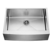 Vigo Industries VGR3020C 76.2cm Farmhouse Stainless Steel 16 Gauge Single Bowl Kitchen Sink - Stainless Steel