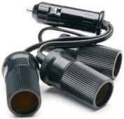 TruckSpec TSP-211 12-Volt 3 Outlet Cigarette Lighter Adapter with Short Cord