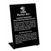 MMF 283560004 Sign Compliance Patriot 15cm X 23cm  - Information White On Black