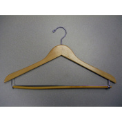 Proman Products GNC8803 Genesis Flat Suit Hanger with Lock Bar - Nactual Lacquer -Pack of 50