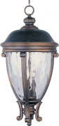 Maxim Lighting 41429WGGO Camden VX 3-Light Outdoor Hanging Lantern - Golden Bronze