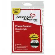 3L Corp 3L-PC-1627 Classic Style Paper Photo Corners .5 Self Adhesive 126/Pkg