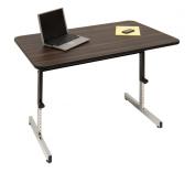 Studio Designs 410380 Adapta Desk 48in. Desk Blk- Walnut