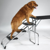 Master Equipment Steel Non-Skid Pet Grooming Tables and SUVs Stair