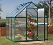 Palram Mythos Series 1.8m x 1.8m Greenhouse - Green
