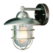 Trans Globe Lighting 4370 ST Outdoor 1 Light Stainless Steel Outdoor Wall Mont