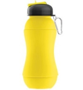 Ad-N-Art SNB01-YELLOW Silicone Squeeze Water Bottle in Yellow