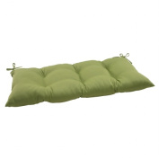 Pillow Perfect 506029 Outdoor Forsyth Tufted Loveseat Cushion in Green - Green