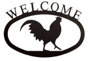 Village Wrought Iron WEL-1-S Small Welcome Sign-Plaque - Rooster