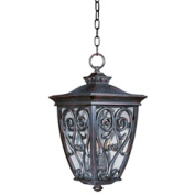 Maxim Lighting 40128CDOB Newbury VX 3-Light Outdoor Hanging Lantern - Oriental Bronze
