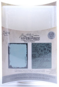 Sizzix 470956 Sizzix Texture Fades Embossing Folders By Tim Holtz 2-Pkg-Distressed Frame & Postal