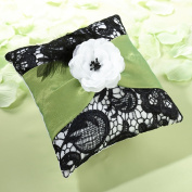 Lillian Rose RP750 Ring Pillow - Green and Black