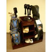 Proman SP16510 Golf Bag Caddie- Hold Two Bags- PVC Lamination- Medium Walnut